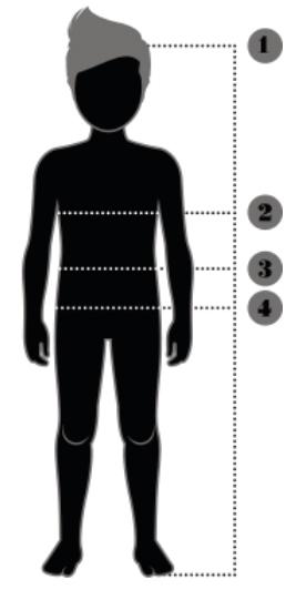 Unge størrelsesguide Razorbacks